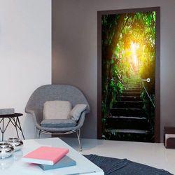 Fototapeta na drzwi - Tapeta na drzwi - Schody w miejskiej Dżungli