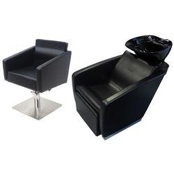 Zestaw Mebli Fryzjerskich - Myjnia Vasto Z Czarną Misą + 1 x Fotel Siena