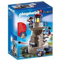Klocki dla dzieci, Playmobil PIRATES Wieża wojskowa z oświetleniem 6680