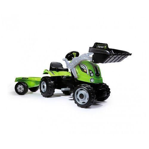 Traktory dla dzieci, SMOBY Traktor Farmer XL z ładowaczem kolor zielony