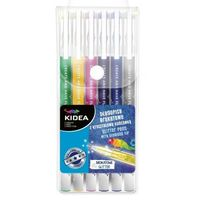 Długopisy, Długopisy brokatowe 6 kolorów KIDEA