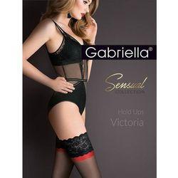 Pończochy Gabriella Victoria Hold Ups 474 5XL-6XL nero-nero-red - nero-nero-red