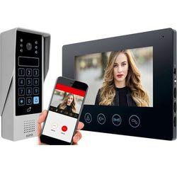 Wideodomofon EURA VDP-90A3 DELTA czarny, 7'', WiFi, otwieranie 2 wejść, szyfrator, czytnik zbliżeniowy