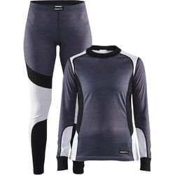 Craft BASELAYER SET Kalesony dark grey melange/white