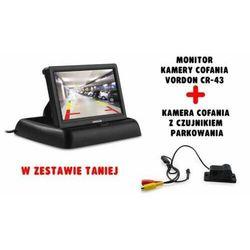 Zestaw Monitor kamery cofania Vordon CR-43 + Kamera cofania z czujnikiem parkowania Vordon CP-2IN1