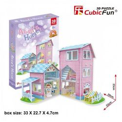 Puzzle 3D Alisa's home Domek dla lalek 74 elementy