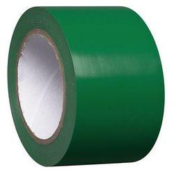 Taśma do znakowania podłoża z winylu, jednokolorowa, szer. 75 mm, zielona, opak.