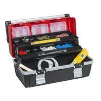 Walizki na narzędzia, Plastikowa walizka z wysuwanymi półkami McPlus Alu C 22