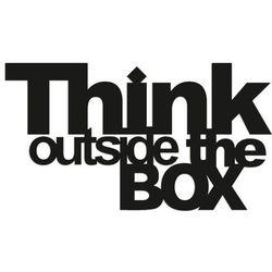 Napis na ścianę THINK OUTSIDE THE BOX czarny by DekoSign