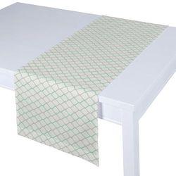Dekoria Bieżnik prostokątny, szaro-miętowe fale na białym tle, 40 × 130 cm, Geometric