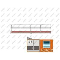 Przęsła i elementy ogrodzenia, Balustrada nierdzewna AISI304, 40x40x2/4xd12/H900/