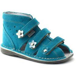 Dziecięce buty profilaktyczne Danielki S124/S134 Turkus