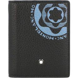 Montblanc Meisterstück Soft Grain Etui na karty skórzana 8 cm black/blue ZAPISZ SIĘ DO NASZEGO NEWSLETTERA, A OTRZYMASZ VOUCHER Z 15% ZNIŻKĄ