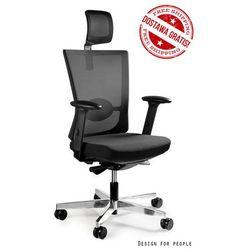 Fotel Unique Forte czarny i w kolorach - 18 KOLORÓW (siatka), bezpłatna