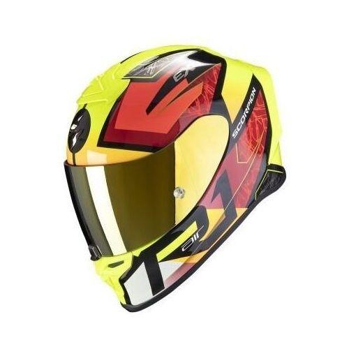 Kaski motocyklowe, SCORPION KASK INTEGRALNY EXO-R1 INFINI BK-RED-F Y