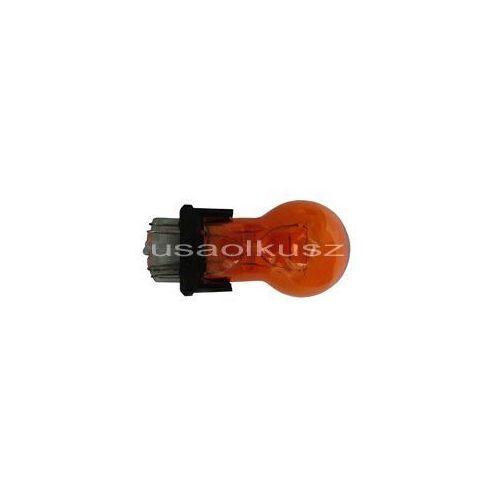 Żarówki halogenowe samochodowe, Żarówka pomarańczowa dwuwłóknowa 3157NA P27/7W amber W2,5x16q