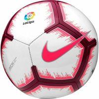Piłka nożna, Piłka nożna Nike Pitch-FA18 LaLiga SC3318-100 biało-różowo-czerwona