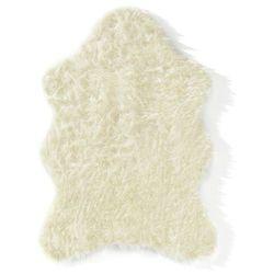 Sztuczna skóra owcza bonprix kremowy
