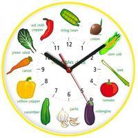 Zegary, Zegar ścienny obrazki /warzywa II