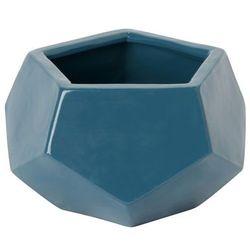 Doniczka ceramiczna GoodHome ozdobna 9 cm niebieska