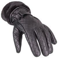 Rękawice motocyklowe, Damskie skórzane rękawice motocyklowe W-TEC Stolfa NF-4205, Czarny, XL