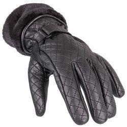 Damskie skórzane rękawice motocyklowe W-TEC Stolfa NF-4205, Czarny, XL