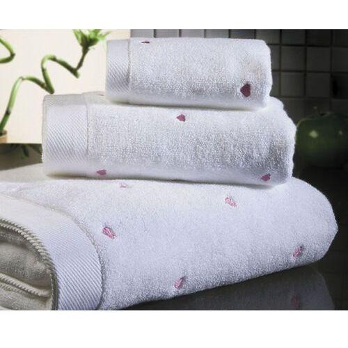 Pozostałe pościele i nakrycia, Zestaw podarunkowy małych ręczników MICRO LOVE, 3 szt Biały / różowe serduszka