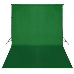 vidaXL System zawieszenia tła z zielonym tłem 500 x 300 cm Darmowa wysyłka i zwroty