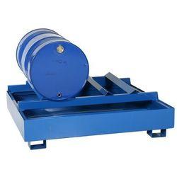 Wanna Wychwytowa Metalowa Na 2 Beczki Leżące 150 L. - 450 L. 2 Beczki Stal Lakierowana Niebieski 155 Cm X 125 Cm X 58 Cm