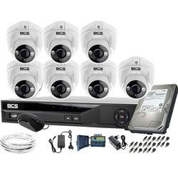 ZM11977 7 kamer monitoringu BCS BCS-DMQE1500IR3-B + Rejestrator BCS-XVR08014KE-II 1TB