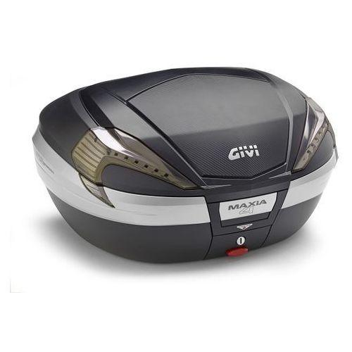 Kufry i bagażniki motocyklowe, Kufer Givi V56NNT Maxia 4 (czarny, 56 litrów, szare odblaski, pokrywa karbonowa)
