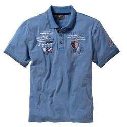 Shirt polo Regular Fit bonprix niebieski dżins