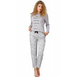 Bawełniana piżama damska M-MAX 943 Oria szara