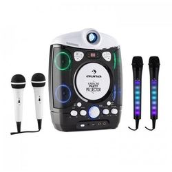 Kara Projectura zestaw do karaoke czarny + Kara Dazzl zestaw mikrofonów LED