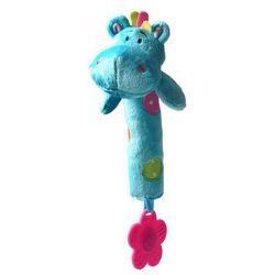 Zabawka BABYONO Piszcząca z gryzakiem Hippo Ziggy