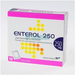 Enterol 250 prosz.do sp.zaw.doust. 0,25 g 10 sasz.
