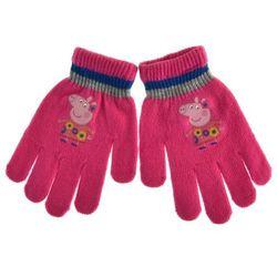 Rękawiczki dziecięce Świnka Peppa - Fuksja