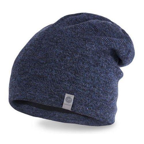 Nakrycia głowy i czapki, Męska czapka zimowa 17012/1 PaMaMi - Granatowy
