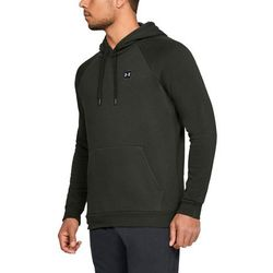 Under Armour Bluza z kapturem RIVAL FLEECE PO HOODIE Zielona - Zielony