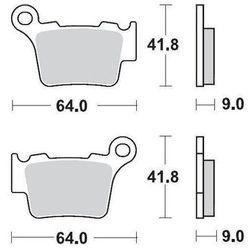 KLOCKI HAMULCOWE KH368 METALIK: 12 KTM 200SX, 250SX, 450SX MOTO-MASTER M094412