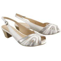 CAPRICE 28206-22 191 white/silver, sandały damskie - Biały