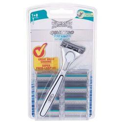 Wilkinson Sword Quattro Titanium Sensitive zestaw Maszynka do golenia 1 szt + Zapas 8 szt dla mężczyzn