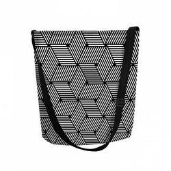 Torebka damska filcowa shopperka Cube - czarny ||szary