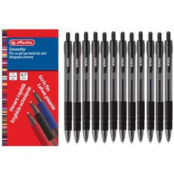 Długopis żelowy Smoothy 0,7mm czarny 12szt HERLITZ - czarny