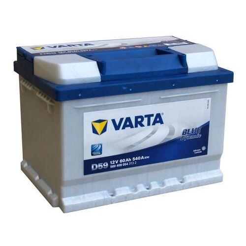 Akumulatory samochodowe, VARTA BLUE Dynamic D59 - 12V 60Ah 540A (EN) +P