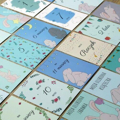 Pozostałe akcesoria dla dzieci, Baby Story - Karty do zdjęć Bunny