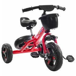 Rowerek trójkołowy - jeździk. Koło zapasowe + kosz