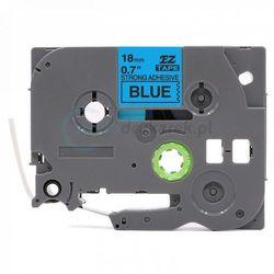 Taśma Brother TZe-S541 mocny klej niebieska/czarny nadruk 18mm x 8m zamiennik