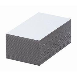 Magnetyczna tablica magazynowa, białe, wys. x szer. 40x100 mm, opak. 100 szt. Za