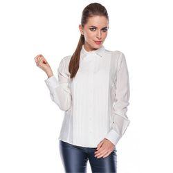 Klasyczna koszula z pionowymi zakładkami - Duet Woman